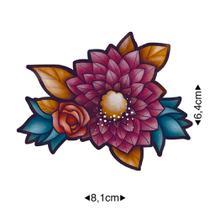 APM8-1141 - Aplique Em Papel E MDF - Flores Coloridas