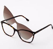 Armação De Óculos Para Grau Feminina Gatinho Sugar Clipon 2 em 1 Tartaruga