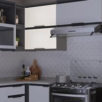 Armário de Cozinha de Canto 2 Portas Hibisco Thela Grafite/Branco