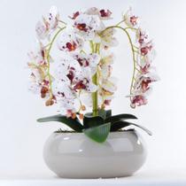 Arranjo de Orquídea Artificial Tigre em Vaso Nude
