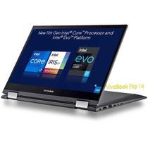 Asus TP470 (Ultrabook 2-in-1) Intel 11ª geração i7-1165G7 tela 14' FHD vídeo Iris Xe SSD 512Gb NVMe RAM 16Gb