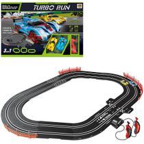 Autorama auto pista turbo run 3 em 1 circuito com 2 carros + cabo usb e acessorios 33 pecas