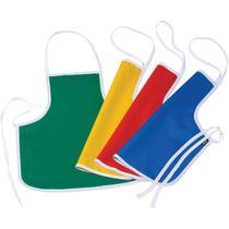Avental Escolar Liso Infantil Colorido Sortido Pct Com 04