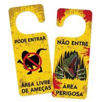 Aviso de Porta - AMEACA DINO