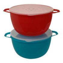 Bacia 10,8LTS Plast Color C/ Aça e Tampa Transp - 126714 - Plasticos Mb