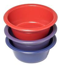 Bacia Pote Plástico 1,5 L Grande Colorida 40 Unidades
