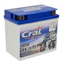 Bateria Moto 6A 12v Selada Cral Polo Positivo Direito