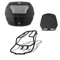 Bau De Moto 28 Litros Pro Tork Com Bagageiro Titan 150 / Fan 125/150 2009 Até 2013