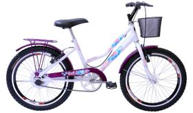 Bicicleta Aro 20 Feminina New Lady Aer Branco/Aces Vl C/Ct
