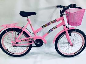 bicicleta aro 20 infantil para menina com cestinha