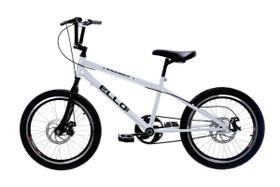 Bicicleta Aro 20 Nitro Freio a Disco Tipo Bmx Cross Free Style Branco - Ello Bike