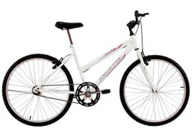 Bicicleta Aro 24 Feminina Life Sem Marchas Branca