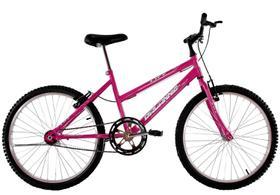 Bicicleta Aro 24 Feminina Life Sem Marchas Rosa Pink