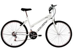 Bicicleta Aro 24 Feminina Menina 18 Marchas Branca