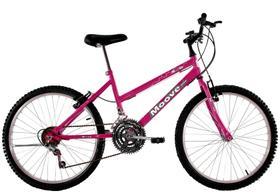 Bicicleta Aro 24 Feminina Menina 18 Marchas Rosa Pink
