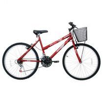 Bicicleta Aro 26 21 Marcha Feminino Com Cesta Bella Cairu