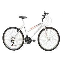 Bicicleta Aro 26 Track Bikes Thunder BR Mountain 18 Marchas Branco