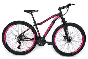 Bicicleta Aro 29 Ecos Safira Feminina 24 Marchas Câmbios Index Freio A Disco Mecanico