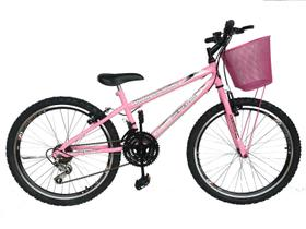 Bicicleta Aro Aero 24  Feminina  18 Marchas Freio V-Brake