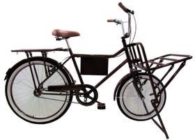 Bicicleta Cargueira De Carga Pesada Bagageira Vintage Retro
