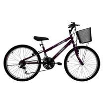 Bicicleta Feminina Aro 24 21 Marchas Bella 310915