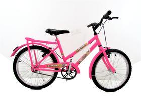 Bicicleta Feminina Infantil Aro 20 Paralama E Bagageiro