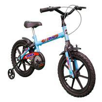 Bicicleta Infantil Aro 16 Dino Track Bikes Azul/Preto