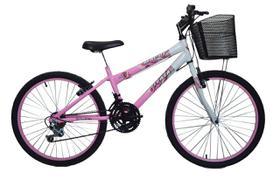 Bicicleta infantil aro 24 18 marchas new bike Feminina Rosa