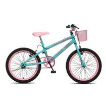 Bicicleta Infantil Menina Feminina Aro 20 Colli July - Verde Acqua