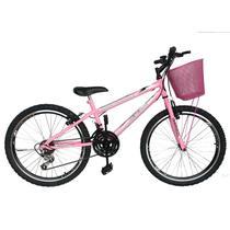 Bicicleta mountain bike aro 24 aero /feminina - rosa