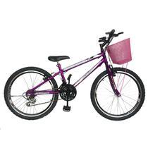Bicicleta mountain bike aro 24 aero /feminina - violeta