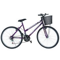 Bicicleta mountain bike aro 24 /feminina - violeta