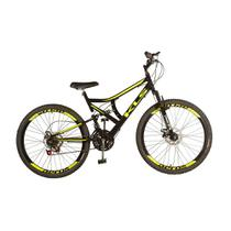 Bicicleta Mtb Kls Full Suspension Gold Aro 26 Freio Disco 21 Marchas