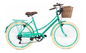 Bicicleta Vintage Retro Food Bike estilo antigo Aro 26 com 6 Marchas