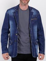 Blazer Jeans Slim Masculino Azul