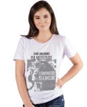 Blusa Feminina Manga Curta Branca - Estampa Cão ANIMI
