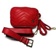 Bolsa Feminina Couro PU Transversal/Pochete Fenix Pequena