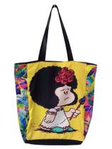 Bolsa Mafalda Frida Sacola Ecobag Lateral Floral