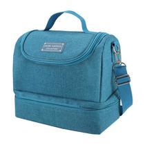 Bolsa Térmica Com 2 Compartimentos Azul Concept Jacki Design