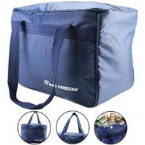 Bolsa Térmica Cooler Grande 39 Litros Azul Viagem Praia