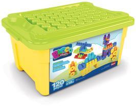 Brinquedo de Montar Infantil Super Caixa Divertida Dismat 120 peças MK170