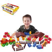 Brinquedo Educativo Caixa De Acessórios Da Fazendinha 53pcs