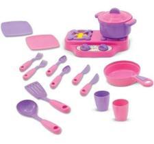 Brinquedo Kit Cozinha Menina Fogãozinho Com Panelinhas Maral 1008