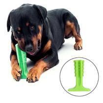 Brinquedo Mordedor Escova De Dente Higienizador Dental Cachorro Anti Stresse Pet 18cm Grande