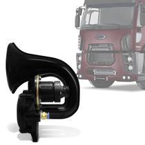 Buzina Eletropneumática de Ar Universal para Caminhões 12V Preta VT047