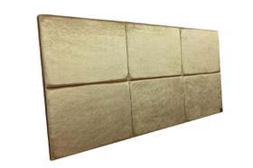 Cabeceira Estofada Casal 6 Blocos Alce Couch Veludo Cristal Dourado 140cm