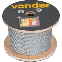 """Cabo de aço af 5/16"""" alma de fibra 6x19s galvanizado com 100 metros - Vonder"""