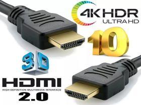 Cabo HDMI 10 metros 2.0 4K ULTRA HD 3D filtro pino dourado