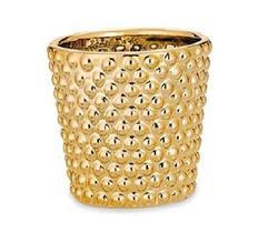 Cachepot Decorativo em Cerâmica Dourado - Mart