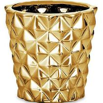 Cachepot Dourado em Ceramica